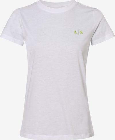 ARMANI EXCHANGE T-Shirt in gelb / grau / weiß, Produktansicht