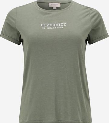 T-shirt 'LAURA' ONLY Carmakoma en vert