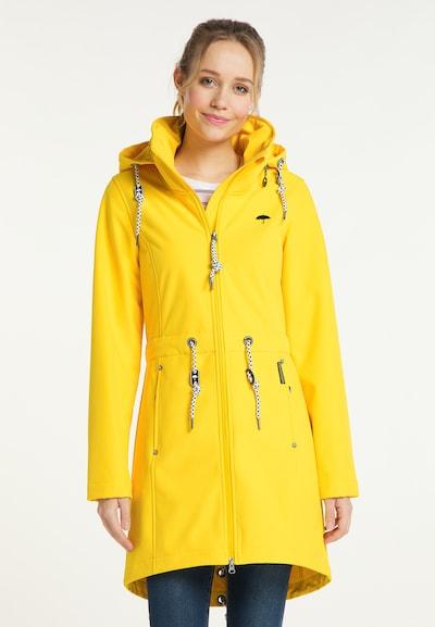 Schmuddelwedda Mantel in gelb, Modelansicht