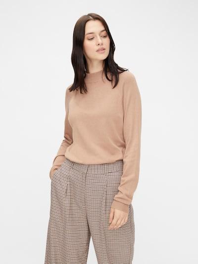 Megztinis iš PIECES, spalva – smėlio spalva, Modelio vaizdas