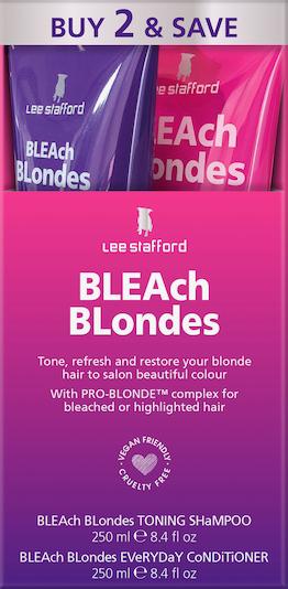 Lee Stafford Haarshampoo 'Bleach Blondes' in lila / fuchsia / weiß, Produktansicht