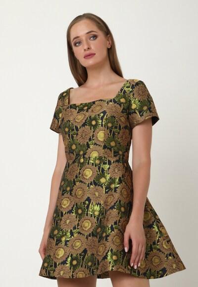 Madam-T Kleid 'AGAVA' in dunkelblau / gold, Modelansicht