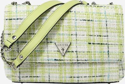 GUESS Чанта за през рамо 'CESSILY' в кремаво / светлосиньо / петрол / ябълка, Преглед на продукта