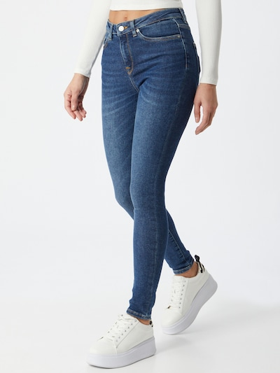 SELECTED FEMME Jeans in de kleur Donkerblauw, Modelweergave