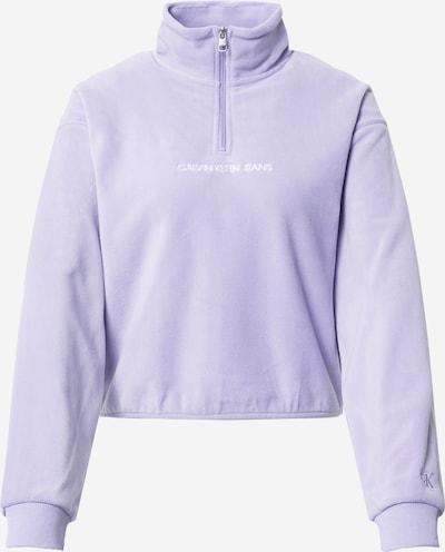 Calvin Klein Jeans Sweat-shirt en violet clair / blanc, Vue avec produit