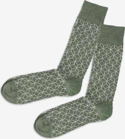 DillySocks Sokken in de kleur Donkergroen / Wit, Productweergave