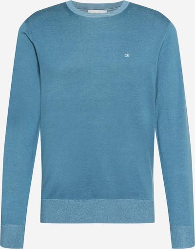 Calvin Klein Pulover u sivkasto plava / bijela, Pregled proizvoda