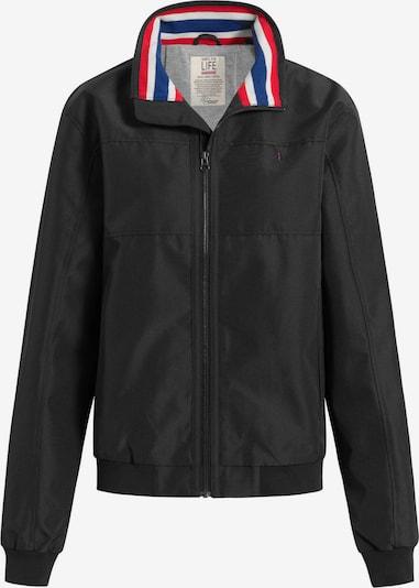 Shirts for Life Übergangsjacke 'Carl' in royalblau / rot / schwarz / weiß, Produktansicht