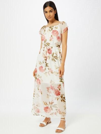 VERO MODA Kleid 'BRIONY' in grasgrün / pink / weiß, Modelansicht