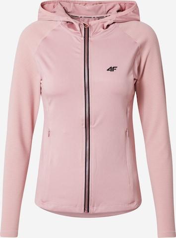 4F Sportsweatjakke i rosa