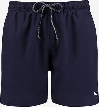PUMA Maillot de bain de sport en bleu marine / blanc, Vue avec produit