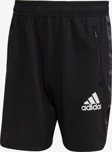 ADIDAS PERFORMANCE Pantalon de sport en gris foncé / noir / blanc, Vue avec produit