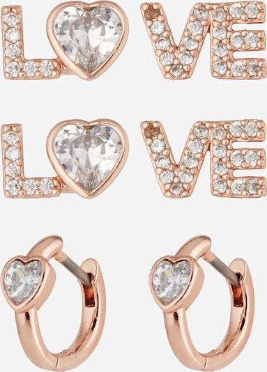 Set de bijuterii Kate Spade pe auriu - roz / alb, Vizualizare produs