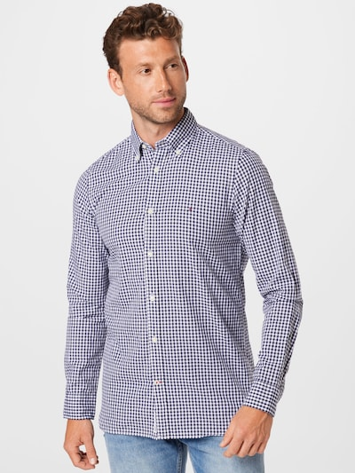 TOMMY HILFIGER Hemd in dunkelblau / rot / weiß: Frontalansicht