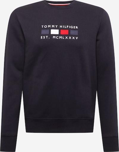 TOMMY HILFIGER Sweatshirt i marinblå / nattblå / röd / vit: Sedd framifrån