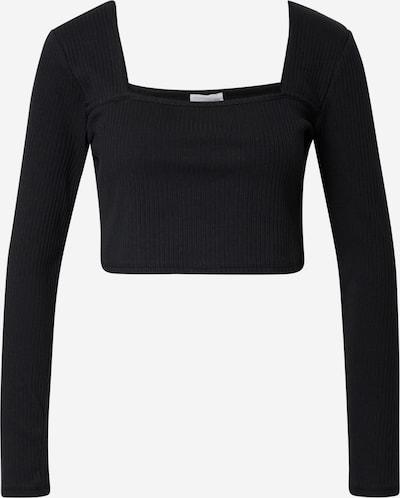 Tricou GLAMOROUS pe negru, Vizualizare produs