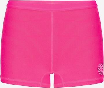 BIDI BADU Shorts Mallory mit Markendruck am Bein in Pink