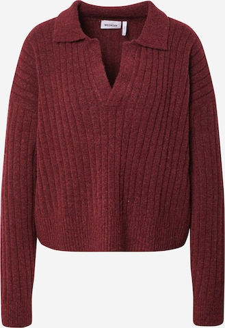 WEEKDAY Pullover 'Husky' in Rot
