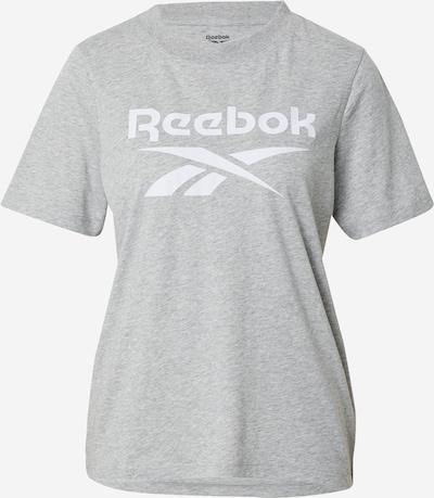REEBOK Tehnička sportska majica u svijetlosiva / bijela, Pregled proizvoda