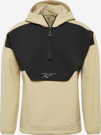 REEBOK Sportjas in de kleur Beige / Zwart, Productweergave