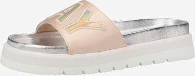REPLAY Pantolette in beige / rosa / silber, Produktansicht