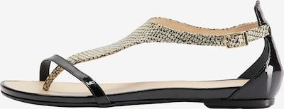 IZIA Sandale in beige / schwarz, Produktansicht