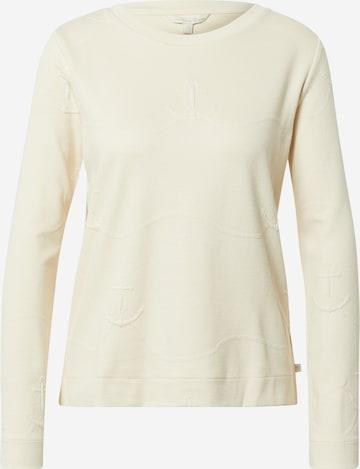 TOM TAILOR DENIM Sweatshirt in Beige
