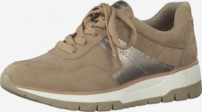 TAMARIS Sneaker in puder / silber, Produktansicht