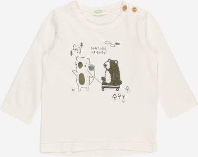 UNITED COLORS OF BENETTON T-Shirt in graphit / oliv / naturweiß, Produktansicht