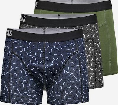 Only & Sons Boxer shorts 'Jackie' in dark blue / dark grey / dark green / white, Item view