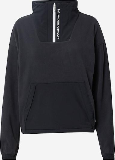 UNDER ARMOUR Athletic Sweatshirt 'RUSH' in Black / White, Item view