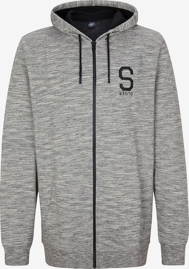 s.Oliver Men Tall Sizes Sweatjacke in graumeliert, Produktansicht