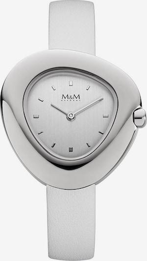 M&M GERMANY Analoguhr 'Pebbles' in silber / weißmeliert, Produktansicht