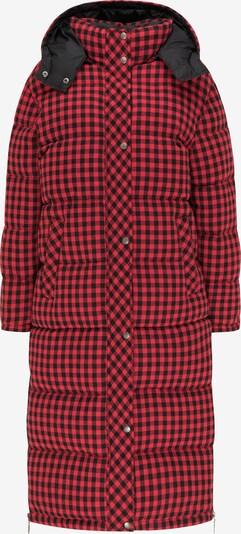 myMo ROCKS Manteau d'hiver en rouge pastel / noir, Vue avec produit