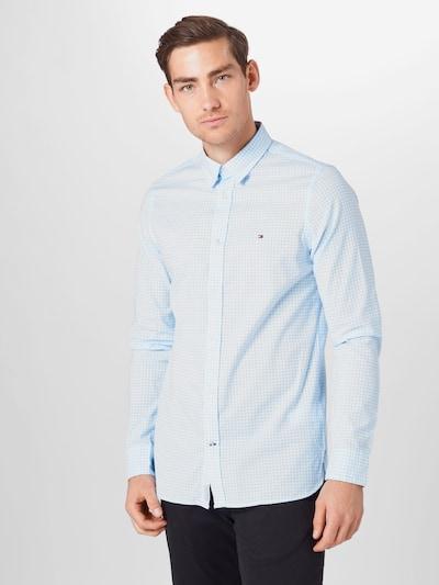 Dalykiniai marškiniai iš TOMMY HILFIGER , spalva - šviesiai mėlyna / balta: Vaizdas iš priekio