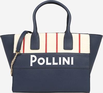 POLLINI Handtasche in creme / navy / rot / weiß, Produktansicht
