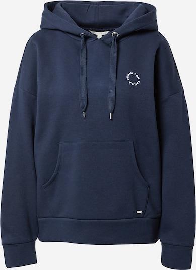 TOM TAILOR DENIM Sweatshirt in marine / weiß, Produktansicht