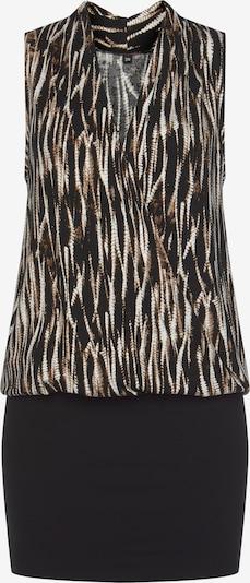 VIVANCE Kleid in braun / schwarz / weiß, Produktansicht