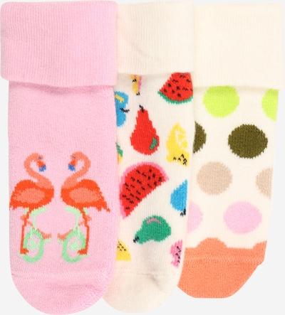 Happy Socks Chaussettes 'Flamingo & Fruits' en mélange de couleurs / rose / poudre, Vue avec produit