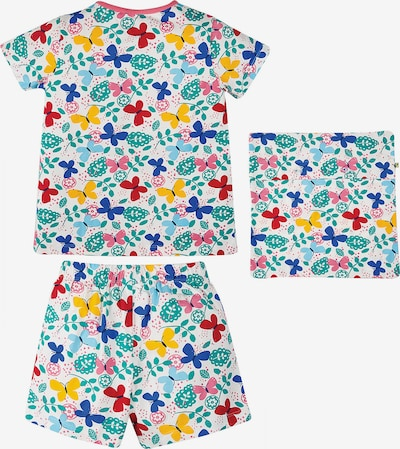 Frugi Schlafanzug 'Sleepy' in mischfarben / weiß, Produktansicht