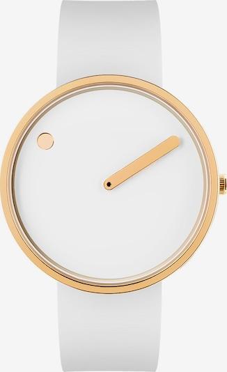Picto Uhr in gold / weiß, Produktansicht