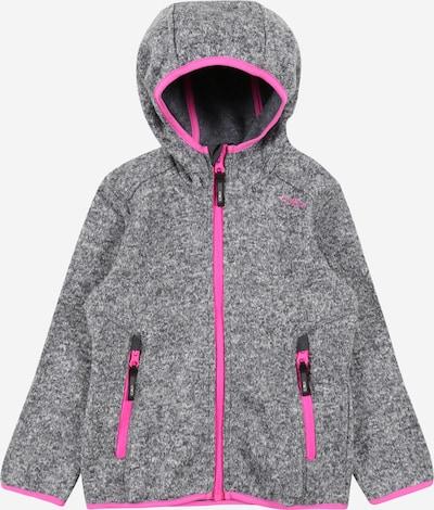 CMP Athletic Fleece Jacket in mottled grey / Pink, Item view