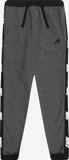 Nike Sportswear Hose in dunkelgrau / schwarz / weiß, Produktansicht