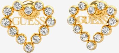 GUESS Uhani | zlata / bela barva, Prikaz izdelka