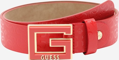 GUESS Gürtel 'Blane' in gold / rot, Produktansicht
