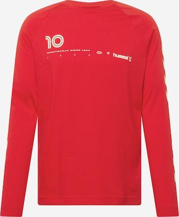Hummel Λειτουργικό μπλουζάκι 'Musa' σε κόκκινο