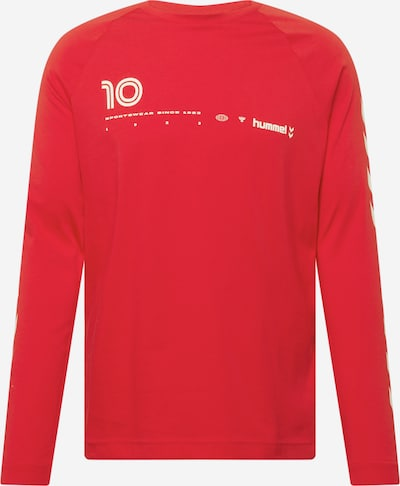 Hummel Λειτουργικό μπλουζάκι 'Musa' σε κόκκινο φωτιάς / λευκό, Άποψη προϊόντος