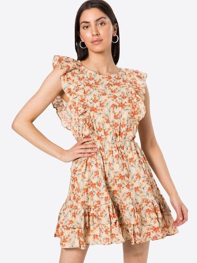 MINKPINK Letné šaty 'ZAHARI' - béžová / zelená / oranžová: Pohľad spredu