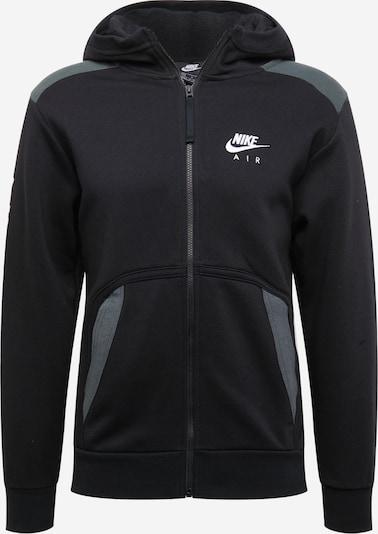Nike Sportswear Sweatjacka i grå / svart / vit, Produktvy