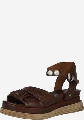 Sandales à lanières 'LAGOS' A.S.98 en marron